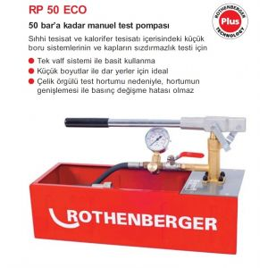Rothenberger RP 50 ECO Manuel Test Pompası No.61130 S