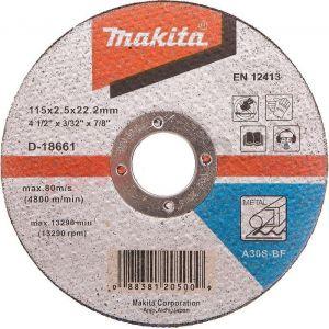 Makita D-18661 Kesme Diski 115x2.5mm Metal 50 Adet