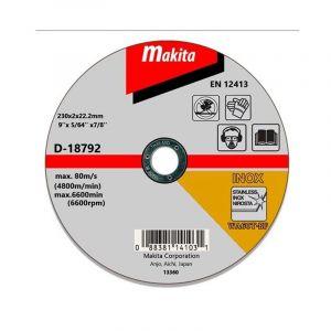 Makita D-18792 Kesme Diski 230x2mm Metal 50 Adet