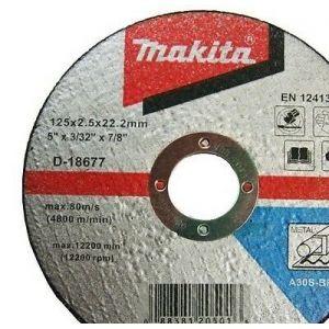 Makita D-18677 Kesme Diski 125x2.5mm Metal 50 Adet