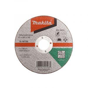 Makita D-18720 Kesme Diski 125x3mm Metal  50 Adet