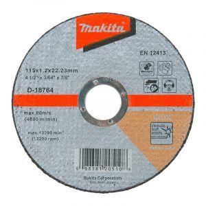 Makita D-18764 Kesme Diski 115x1.2mm Metal 100 Adet