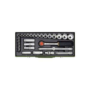 Proxxon 23000 1-2 inç Cırcır Kollu 29 Parçalı Lokma Takımı